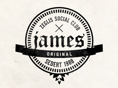 Zeglis Social Club print label brand beer logo