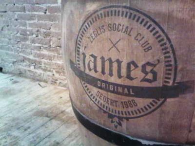 Zeglis Social Club x James Original print logo