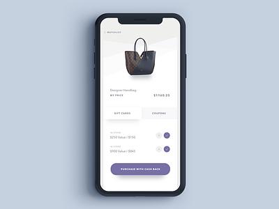 Watchlist Concept product designer ui designer austin designer austin iphonex shopping ecommerce ui design app design app
