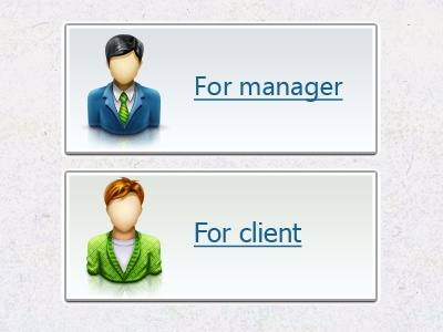 Manager and Client icons gui webicons icon ui webdesign button person people web 2.0 buttons human icon icon manager icon customer button with icon button with an icon of human hipster icon