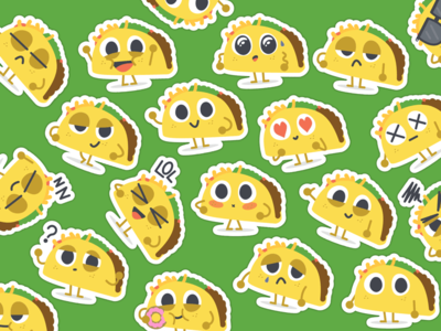 """Let's Taco Bout It"" iMessage Stickers"