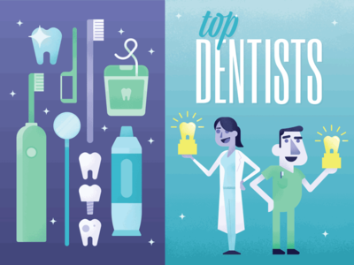 Top Dentists 2017 Illustration editorial magazine illustration dentists