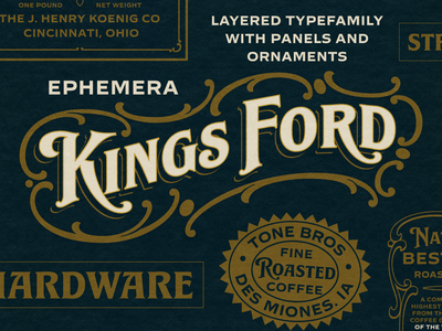 Ephemera Kingsford Font logotype logo design hand lettering typography typeface font lettering vintage
