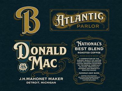 Label Design vector font branding design logo typography typeface lettering vintage