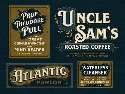 Label Design poster coffee logotype logo label design label design typography font lettering vintage