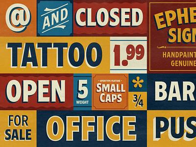 Ephemera Egyptian typography art logo flourish handlettering typography typeface font lettering vintage