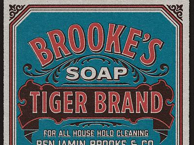 Brooks Soap distressed badges victorian vintage design vintage badge vintage font typography logo typography design typography art typography texture typeface font lettering vintage