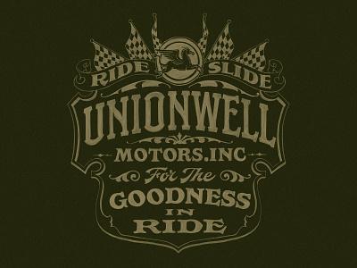 Unionwell Lettering branding logo hand lettering handlettering typography texture typeface font lettering vintage