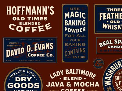 Badges Design variablefonts logo illustration typography texture typeface font lettering vintage