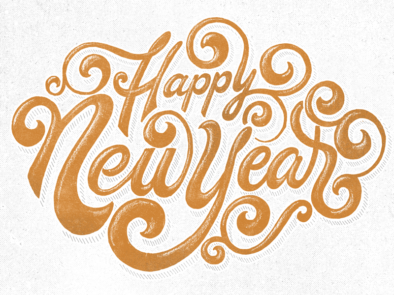 Happy New Year Lettering Design 36