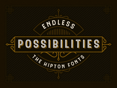 Hipton font with extras