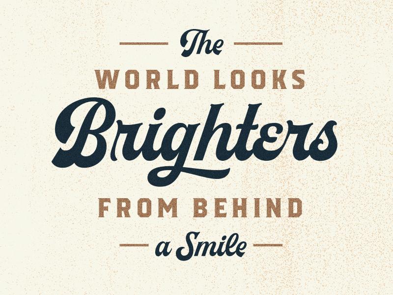 Brighters texture script vintage font lettering quotes