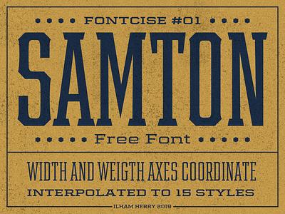 Samton [FREE FONT] typeface font hand lettering free fonts vintage