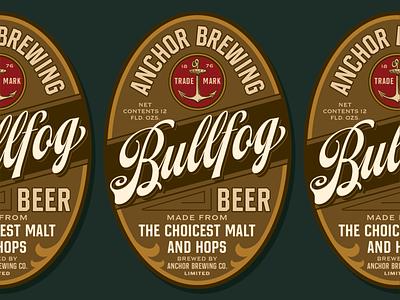 Bullfog Beer flourish script hands lettering hand lettering typography font handlettering typeface texture lettering vintage