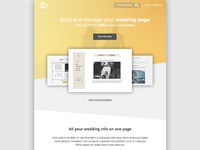 Main page for wedding website