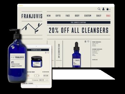 Franjuvis branding, website and packaging design