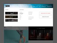 Redesign Concept - Vans / Menu