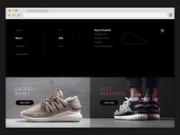 WIP - Footwear Boutique Website : Full-Screen Menu