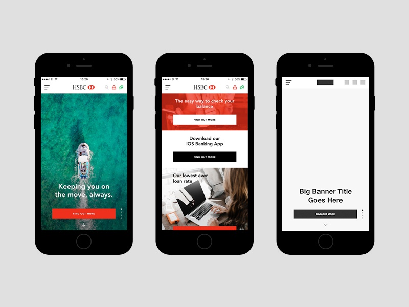Redesign of HSBC (Mobile) by Mark O'Donoghue on Dribbble