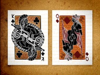 KC & QD : Fall of Troy ][ Epic Playing Cards