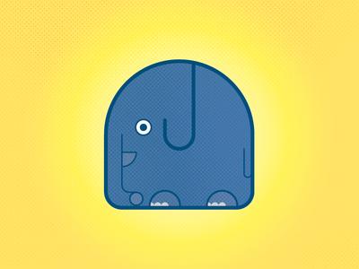 Happy Elephant nature happy icon elephant