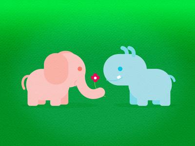 Hipp N Elly animals character design animation preschool