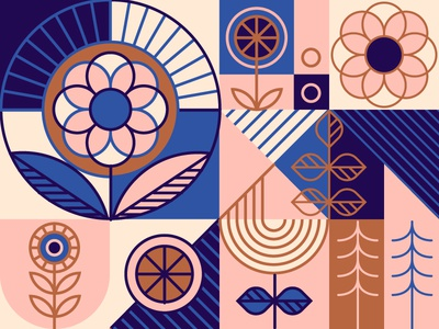 Floral Pattern geometric abstract pattern floral