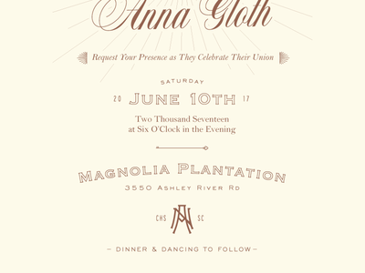 Wedding Invite Pt. I