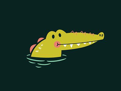 Gator happy smile vector illustration alligator gator water florida