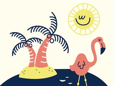 Sunshine wip palm trees palm sun flamingo water florida