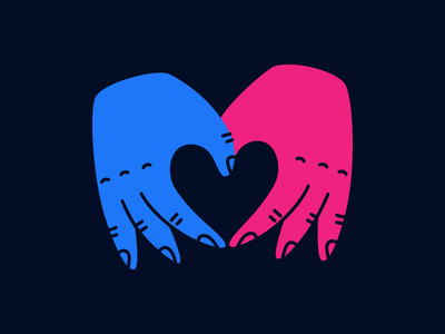 Giving sticker giving heart hands stickermule playoff love