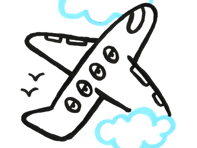 vacation travel airplane 100dayproject illustration