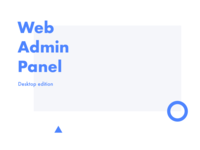 Admin panel for insurance company (desktop)