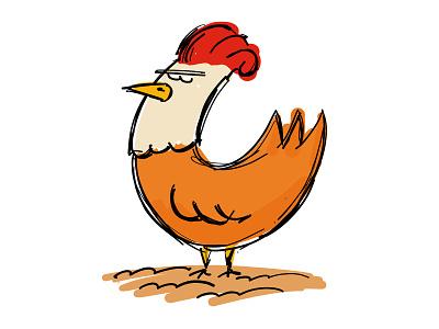 Chicken adobe draw farm vector chicken 100daychallenge
