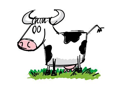Cow adobe draw vector farm cow 100daychallenge