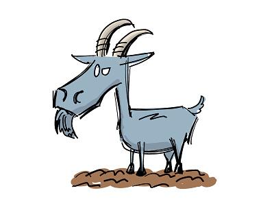 Goat adobe draw vector farm goat 100daychallenge
