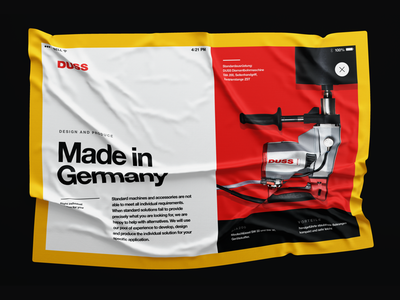 UI Exploration germany drill wrinkles mockup red concept ux ui