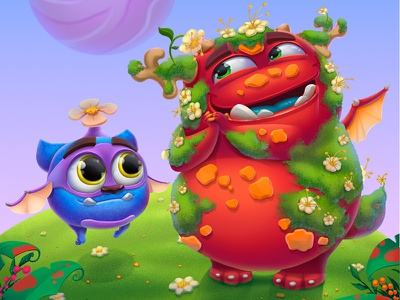 """The Characters and illustration for game """"Monsters"""" monsters illustration gamedesign gameart game digital character cg cartoon artwork 2dart"""