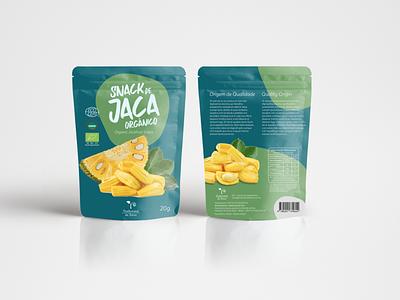 Packing design - Organic Jackfruit branding and identity snacks organic food product design branding design packing design