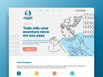 UI Design for Clubinho Literário visual identity visual design user interface design illustration ux branding ui