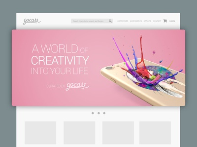 Web banner design for Gocase #1 iphone advertising branding banner web ui ux
