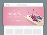 Web banner design for Gocase #1