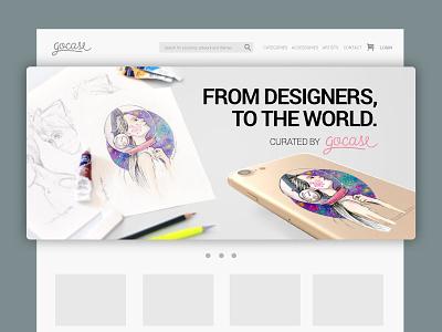 Web banner design for Gocase#2 visual design ui ux banner web branding