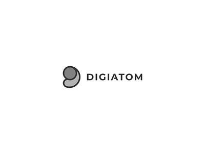 Digiatom mobile young minimalist simple clean modern logo design branding new logo modern design