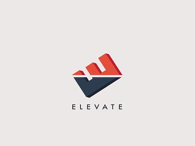 E L E V A T E brand young minimalist color design logo simple clean new modern