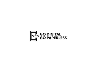 Go Paperless branding color design logo simple clean new modern