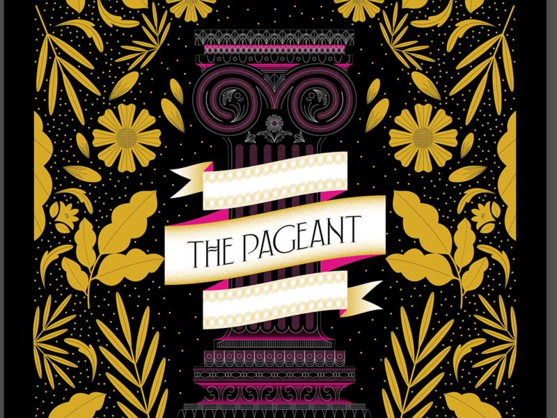 Phantogram Gig Poster color gig poster phantogram poster pedestal floral design floral illustration