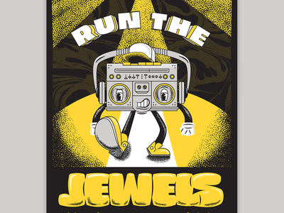 Run the Jewels Poster poster music character boombox color illustration