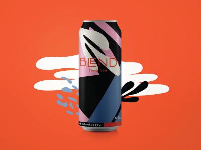 Blend Iced Tea illustration color blocking color pattern packaging branding iced tea