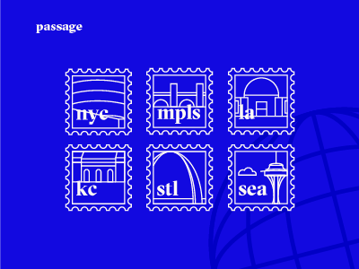 passage app icons stamps cities icons passage app
